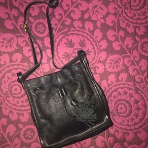 Fossil Bags - Fossil black drawstring Shoulder Bag